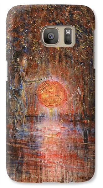 Galaxy Case featuring the painting Glow In The Dark by Nik Helbig