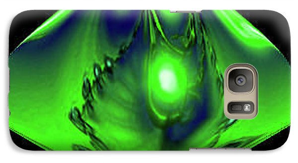 Galaxy Case featuring the mixed media Glow by Kevin Caudill