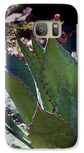 Galaxy Case featuring the photograph Glowing Agave by Phyllis Denton