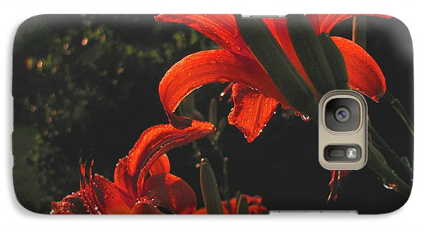 Galaxy Case featuring the photograph Glowing Day Lilies by Donna Brown