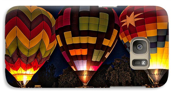 Glowing Hot Air Ballons Galaxy S7 Case by Kim Wilson