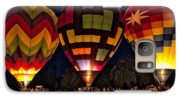 Galaxy Case featuring the photograph Glowing Hot Air Ballons by Kim Wilson