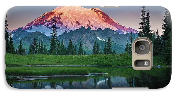 Mountain Galaxy S7 Case - Glowing Peak - August by Inge Johnsson