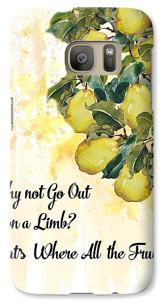 Galaxy Case featuring the digital art Go Out On A Limb by Colleen Taylor