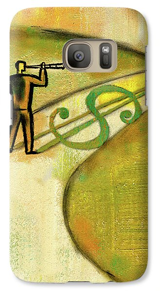 Galaxy Case featuring the painting Goal by Leon Zernitsky
