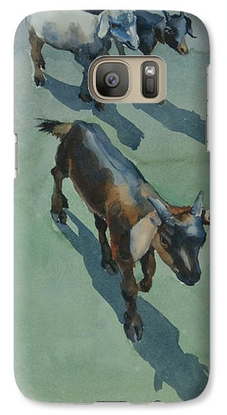 Galaxy Case featuring the painting Goat by Helal Uddin