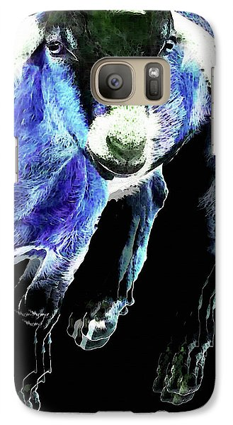 Goat Pop Art - Blue - Sharon Cummings Galaxy S7 Case