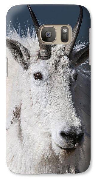 Goat Portrait Galaxy S7 Case by Gary Lengyel