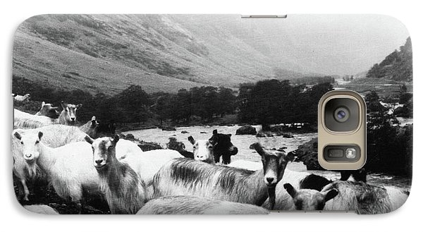 Galaxy Case featuring the mixed media Goats In Norway- By Linda Woods by Linda Woods