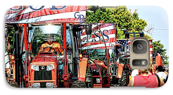 Galaxy Case featuring the photograph God Bless America And Farmers by Toni Hopper