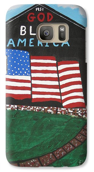 Galaxy Case featuring the painting God Bless America Barn by Jeffrey Koss