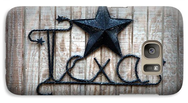 Galaxy Case featuring the photograph God Bless Texas by Kathy  White