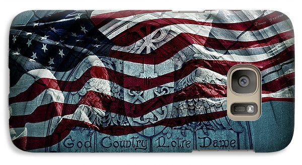 God Country Notre Dame American Flag Galaxy S7 Case