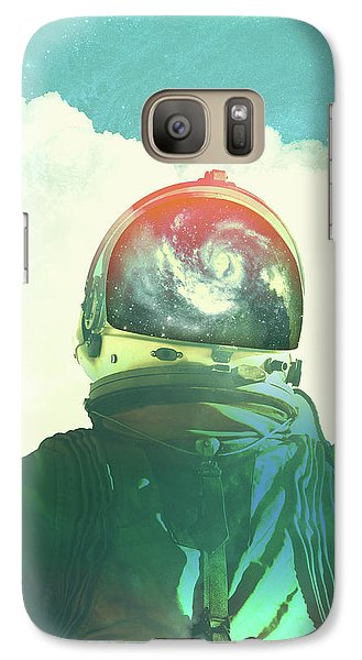 God Is An Astronaut Galaxy Case by Fran Rodriguez