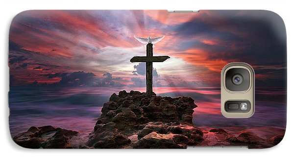 Galaxy Case featuring the photograph God Is My Rock Special Edition Fine Art by Justin Kelefas