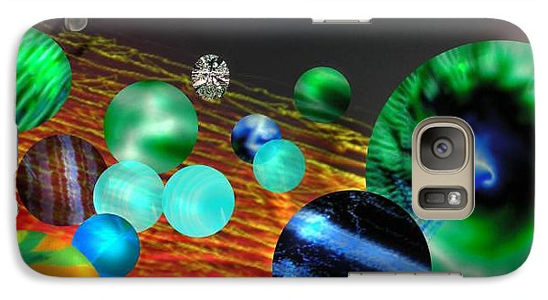 Galaxy Case featuring the digital art God Playing Marbles Tribute To Donovan by Seth Weaver