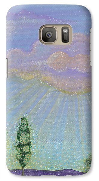 Galaxy Case featuring the painting God's Grace by Tanielle Childers