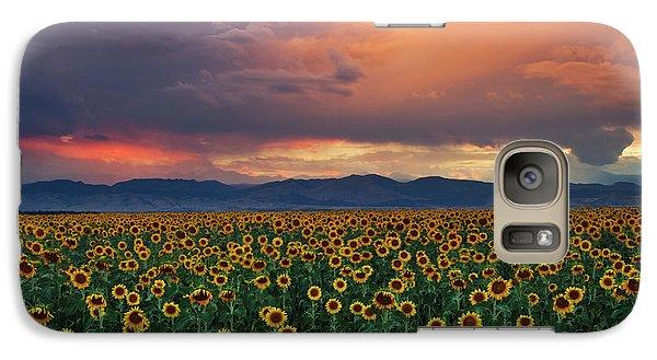 Galaxy Case featuring the photograph God's Sunflower Sky by John De Bord