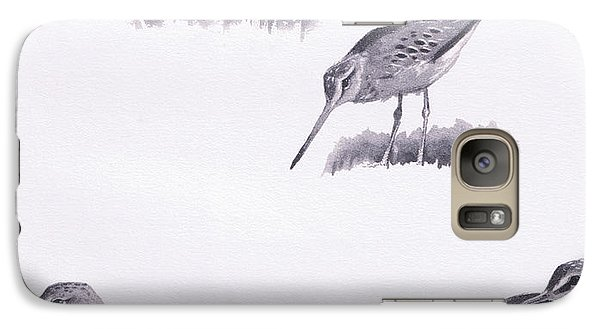 Godwits And Green Sandpipers Galaxy Case by Archibald Thorburn