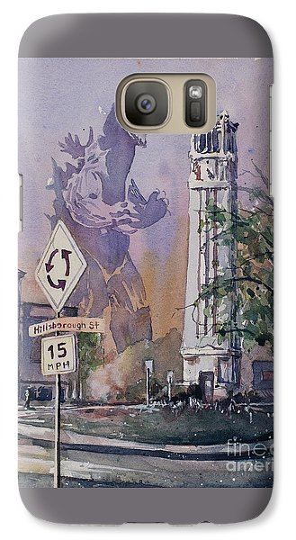 Galaxy Case featuring the painting Godzilla Smash Ncsu- Raleigh by Ryan Fox