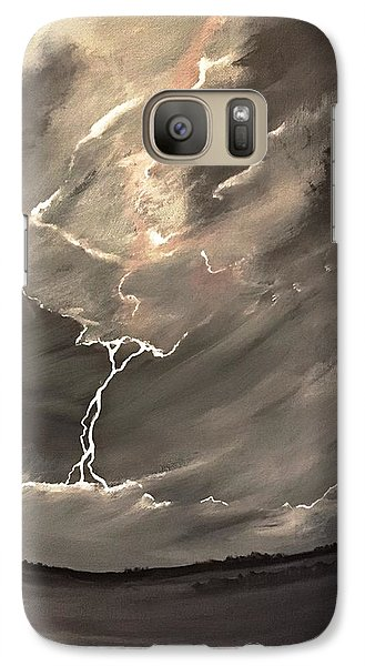 Galaxy Case featuring the painting Going Down A Storm by Scott Wilmot