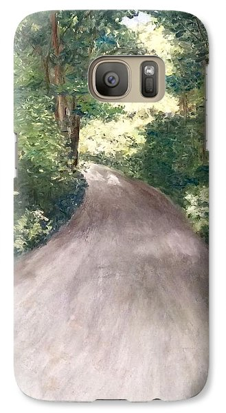 Galaxy Case featuring the painting Going Home by Annamarie Sidella-Felts