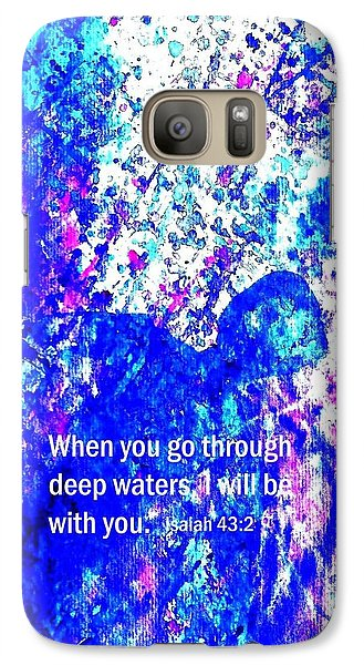 Galaxy Case featuring the painting Going Through Deep Waters by Hazel Holland