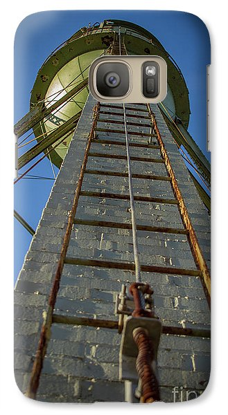 Galaxy Case featuring the photograph Going Up Mary Leila Cotton Mill Water Tower Art by Reid Callaway