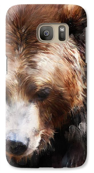 Bear Galaxy S7 Case - Bear // Gold by Amy Hamilton
