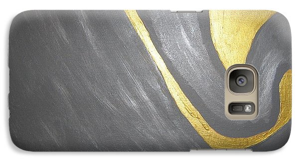 Galaxy Case featuring the painting Gold And Gray by Barbara Yearty