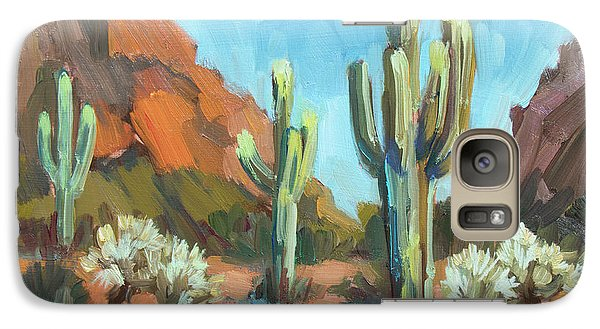 Galaxy Case featuring the painting Gold Canyon by Diane McClary
