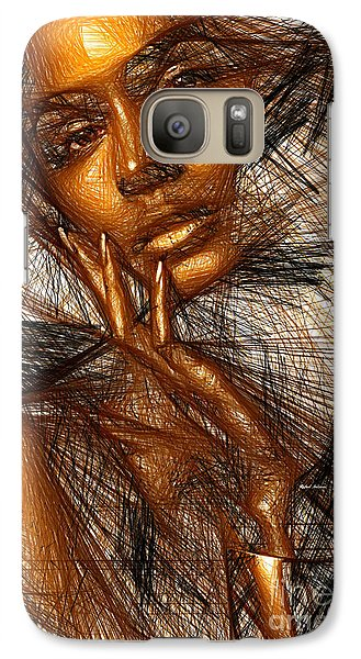 Gold Fingers Galaxy S7 Case