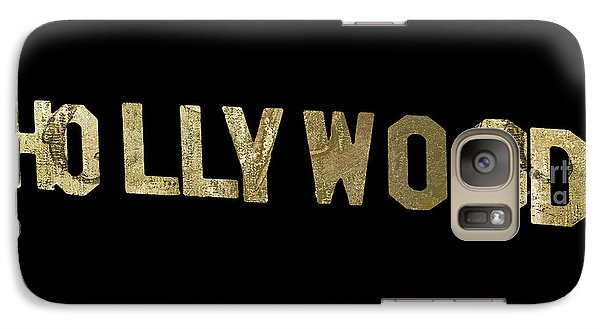Beverly Hills Galaxy S7 Case - Gold Hollywood Sign by Mindy Sommers