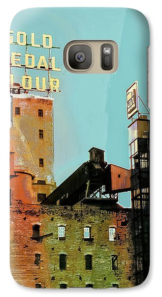 Galaxy Case featuring the photograph Gold Medal Flour Pop Art by Susan Stone