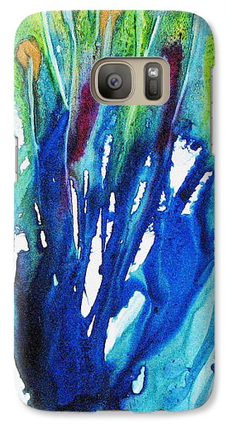 Galaxy Case featuring the painting Gold Nuggets And Blue by Joan Hartenstein