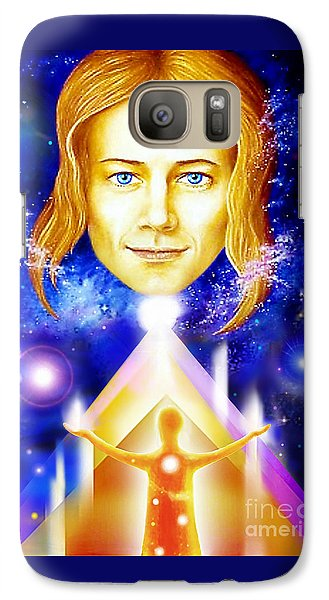Galaxy Case featuring the painting Golden Angel by Hartmut Jager