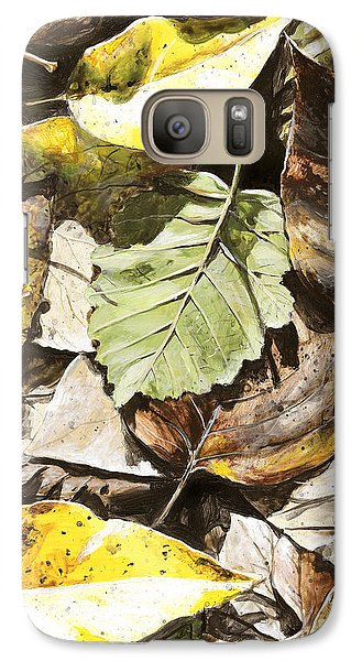 Galaxy Case featuring the painting Golden Autumn - Talkeetna Leaves by Karen Whitworth