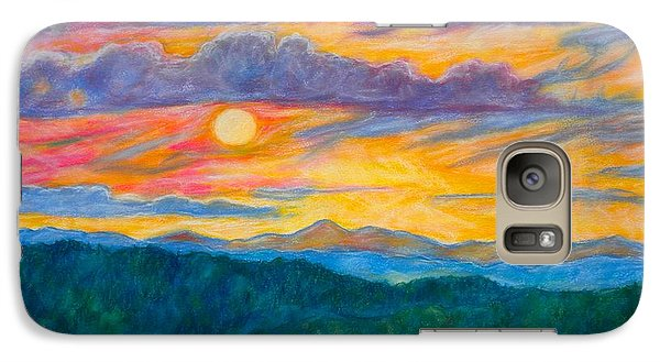 Galaxy Case featuring the painting Golden Blue Ridge Sunset by Kendall Kessler