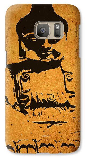 Galaxy Case featuring the digital art Golden Buddha by Kandy Hurley