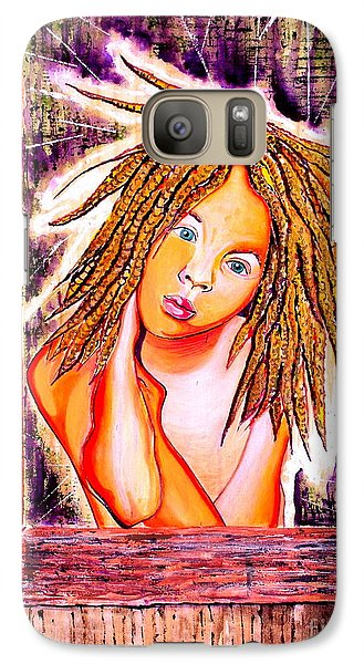 Galaxy Case featuring the painting Golden Child by Julie Hoyle
