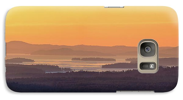 Galaxy Case featuring the photograph Golden Dawn Over Squam And Winnipesaukee by Sebastien Coursol