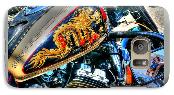 Galaxy Case featuring the photograph Golden Dragon by Adrian LaRoque