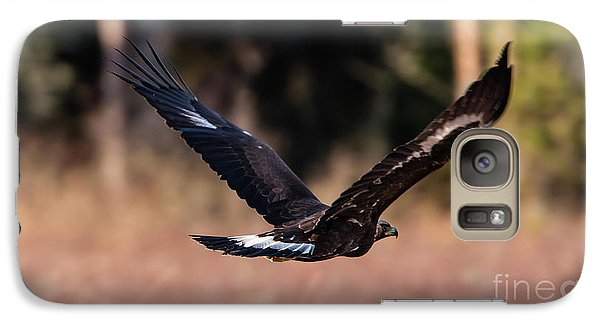 Galaxy Case featuring the photograph Golden Eagle Flying by Torbjorn Swenelius