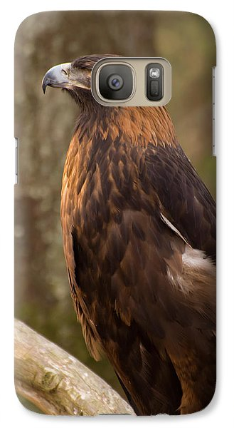 Galaxy Case featuring the photograph Golden Eagle Resting On A Branch by Chris Flees