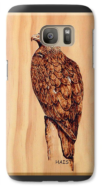 Galaxy Case featuring the pyrography Golden Eagle by Ron Haist