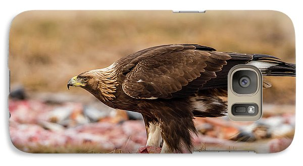 Galaxy Case featuring the photograph Golden Eagle's Profile by Torbjorn Swenelius