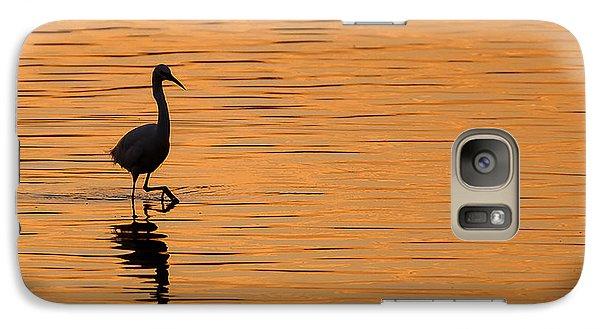 Egret Galaxy S7 Case - Golden Egret by Paul Neville
