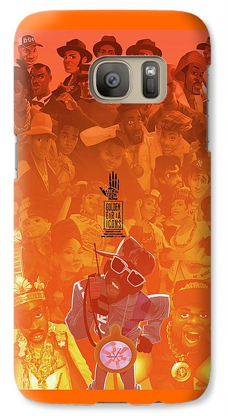 Galaxy Case featuring the digital art Golden Era Icons Collage 1 by Nelson dedos Garcia