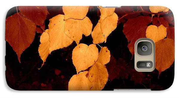 Golden Fall Leaves Galaxy S7 Case