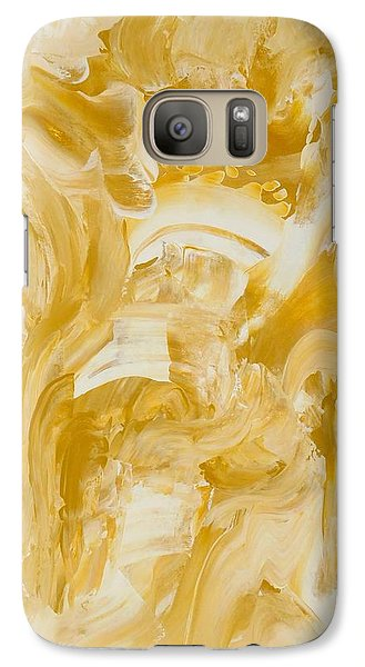 Galaxy Case featuring the painting Golden Flow by Irene Hurdle